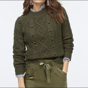 J. Crew Azra Thick Cable Knit Pullover Sweater XS